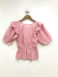 Pink Frill Cotton Top