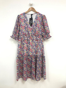 Ditsy Wrap Midi Dress
