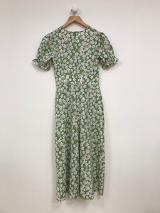 Green Ditsy Midi Dress