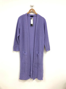 Lilac Oversized Knitted Cardigan