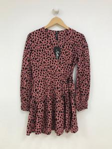 Red Sketchy Animal Print Mini Dress