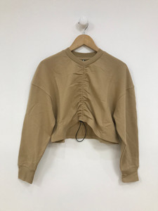 Camel Ruched Front Sweater