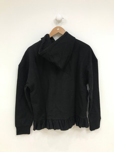 Black Frill Oversize Hoodie