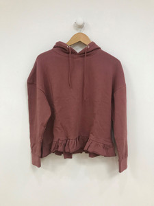 Pink Frill Oversize Hoodie