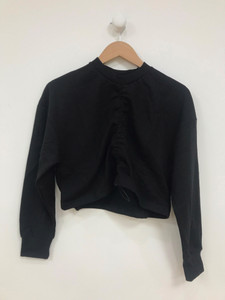 Black Ruched Front Sweater