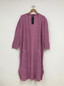 Pink Oversized Knitted Cardigan