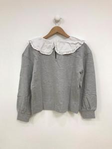 Grey Collar Sweat Top