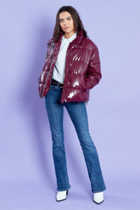 Burgundy Padded Puffer Coat
