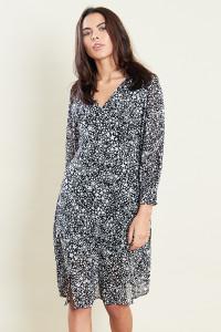 Star Print Midi Dress