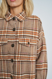 Dominica Wool Check Shacket