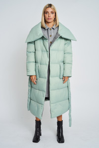 Clancy Oversized Padded Coat With Internal Wool Lining