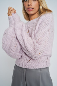 Delaney Balloon Sleeve Cable Knit