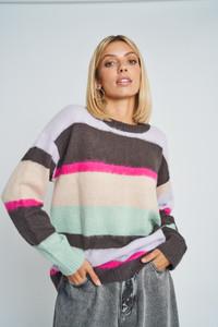 Ember Striped Knit Jumper