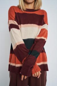 Orange of Ember Striped Knit Jumper