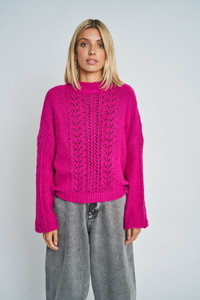 Priya Cable Knit Crop Jumper