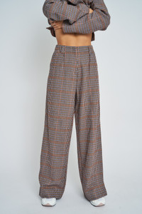 Brownwyn High Waist Check Trouser
