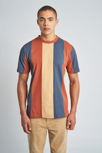 Orange Landon Colour Block T-Shirt