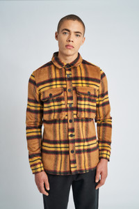 Yellow Jackson Brushed Wool Check Overshirt