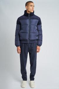 Noah Puffer Jacket With Corduroy Trims