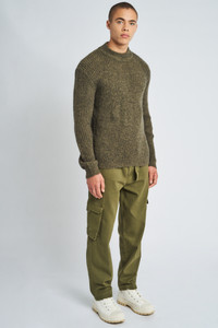 Jasper Knitted Wool High Neck Jumper