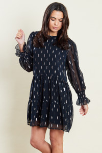 Black Smock Mini Dress