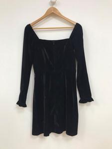 Black Leg of Mutton Sleeve Mini Dress