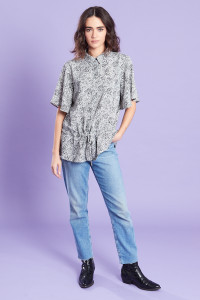 Drawcord Waist Shirt