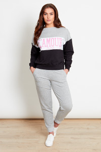 Grey Relaxed Toggle Joggers