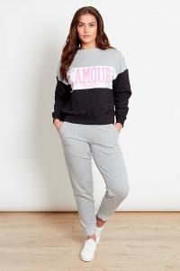 Grey Colourblock SweatShirt