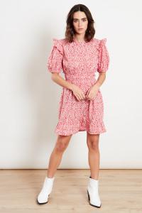 Red Ditsy Skater Mini Dress