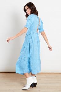 Blue Spot Midi Dress