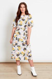 Multi Floral Midi Dress