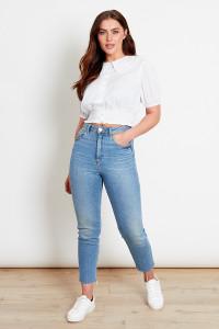 White Dobby Collar Shirt