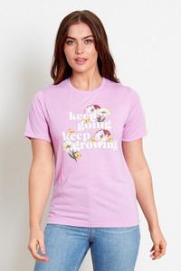Purple Slogan T-Shirt