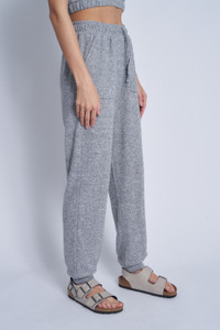 Soft Touch Jersey Relaxed Fit Jogger With Drawcord Waist And Patch Pockets