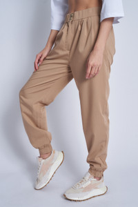 Soft Tailored Formal Jogger With Double Button Fastening At Waistband