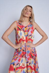 Mimosa Print Sleeveless Tent Dress