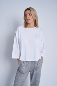 Cropped  Boxy T-Shirt With Youth Chest Embroidery
