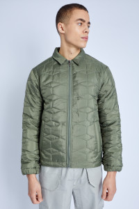 Padded Coach Jacket With Cube Quilting