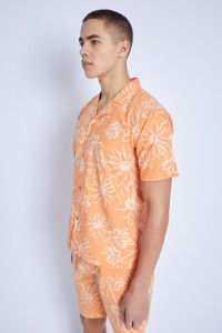 S/S Shirt In Provencal Print With Half Sleeve