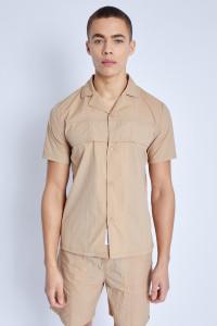 S/S Nylon Shirt With Cargo Flap