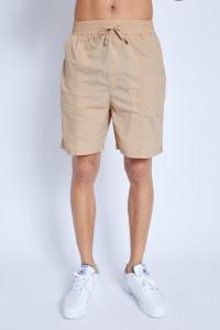 S/S Nylon Short With Seam Detail
