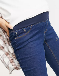 Maternity High Waist Skinny Jeans In Mid Wash