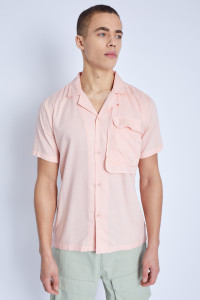 S/S Shirt With Oversized Utility Pocket Detail