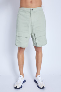 Shorts In Washed Cotton With 3-D Pockets