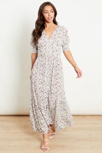 Midaxi Button Through Tea Dress