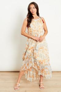 Wrap Front Beach Midaxi Dress