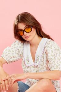 Ethel Blouse With Scalloped Collar - Cream