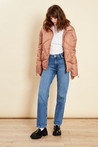 Camel Oversized Quilted Jacket