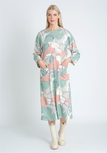 Eco Vera Loose Fit Printed Dress With Patch Pockets